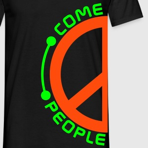 Wortsalat COME TOGETHER PEOPLE / PEACE - Partnerlook links | unisex shirt - Männer T-Shirt