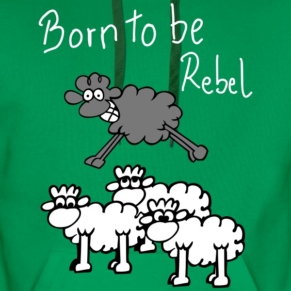rebel sheep Hoodies & Sweatshirts - Men's Premium Hoodie