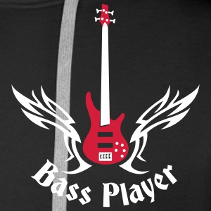 bass_guitar_072011_h_2c Hoodies & Sweatshirts - Men's Premium Hoodie