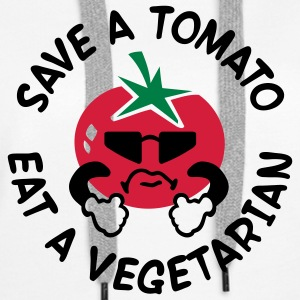 Save A Tomato Eat A Vegetarian - Frauen Premium Hoodie