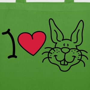 I love Rabbits Bags  - EarthPositive Tote Bag
