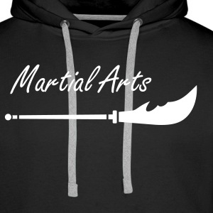 Épée - Long Tou - Arts martiaux Sweat-shirts - Sweat-shirt à capuche Premium pour hommes