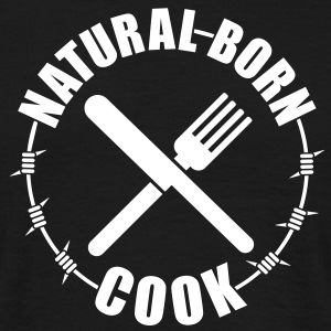 Natural born Cook | Koch T-Shirts - Mannen T-shirt