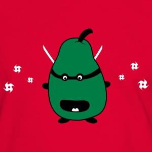 Funny Ninja Pear T-Shirts - Men's Ringer Shirt