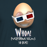 Design ~ Jason's a Moron - 3D Glasses - Mens Shirt