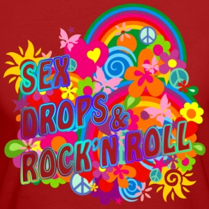 SEX DROPS & ROCK'N ROLL | Frauenshirt organic - Frauen Bio-T-Shirt