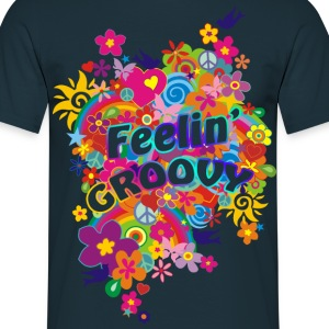NEW FLOWER POWER RAINBOW - feelin' groovy | unisex shirt - Männer T-Shirt