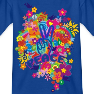 NEW FLOWER POWER RAINBOW - PEACE | Kindershirt - Teenager T-Shirt