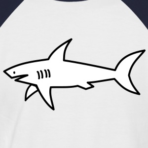 white shark T-Shirts - Men's Baseball T-Shirt
