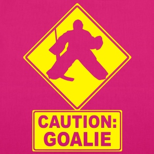 Caution: Goalie (hockey) Bags  - EarthPositive Tote Bag