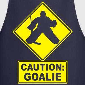 Caution: Goalie (hockey)  Aprons - Cooking Apron