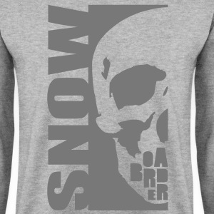 snow boarder skull Sweat-shirts - Sweat-shirt Homme