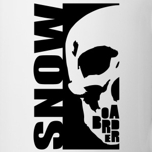 snow boarder skull Tasses - Tasse