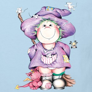 The little witch and the little red dragon Kids' Shirts - Kids' Organic T-shirt