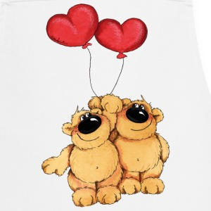 Two bears in love  Aprons - Cooking Apron