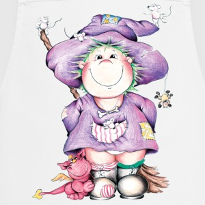 The little witch and the little red dragon  Aprons - Cooking Apron