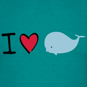 I love whales T-Shirts - Men's T-Shirt