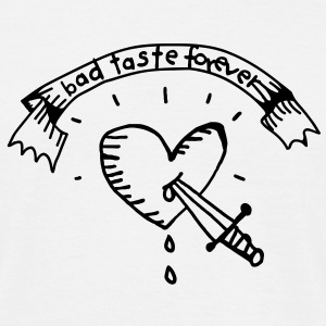 Heart Tattoo Bad Taste T-shirt - Maglietta da uomo