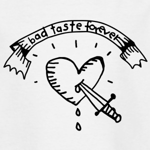 Heart Tattoo Bad Taste Kinder shirts - Teenager T-shirt