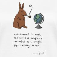 Design ~ Pipe smoking rabbit - Womens white