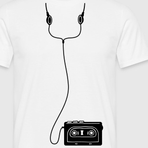 Walkman with headphones  - Mannen T-shirt
