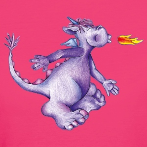 little purple firedragon T-shirts - Ekologisk T-shirt dam