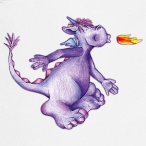 little purple firedragon Forklæder - Forklæde
