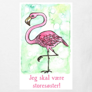 Motiv ~ Jeg skal være storesøster! (flamingo)