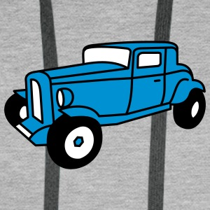 3 color Oldtimer Hot Rod Straßenkreuzer Rock and Roll Custom Car Tröjor - Premiumluvtröja herr