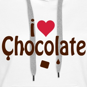 I love chocolate Sweat-shirts - Sweat-shirt à capuche Premium pour femmes