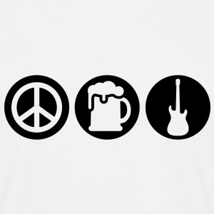 Peace | Beer | Rock | Frieden | Bier | Rock & Roll T-Shirts - T-shirt Homme