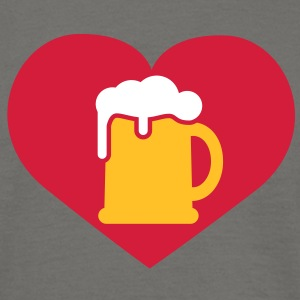 i love Bier | Beer | Herz | Heart | love beer T-Shirts - Herre-T-shirt