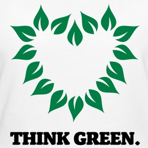 Think Green. - Frauen Bio-T-Shirt