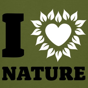 I Love Nature - Männer Bio-T-Shirt