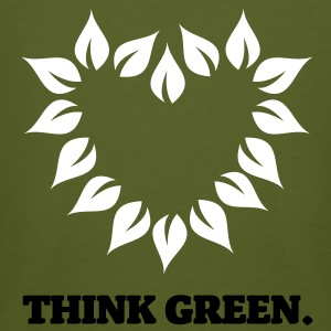 Think Green. - Männer Bio-T-Shirt