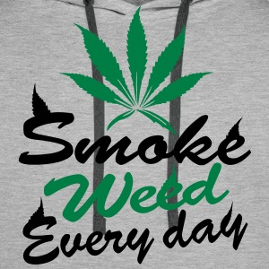 smoke weed every day Sweat-shirts - Sweat-shirt à capuche Premium pour hommes