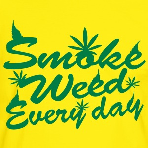 smoke weed every day T-shirts - Herre kontrast-T-shirt