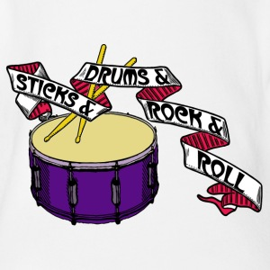 Sticks+Drums+Rock+Roll Part 2 - Baby Bio-Kurzarm-Body