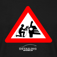 Design ~ Detailing World 'Warning - Man Detailing' T-Shirt (FRONT PRINT)