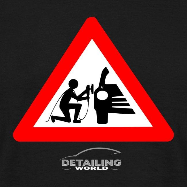 Detailing World 'Warning - Man Detailing' T-Shirt (FRONT PRINT)