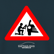 Design ~ Detailing World 'Warning - Man Detailing' T-Shirt (BACK PRINT)