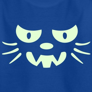 Frosby Night Cat Kids Glow T-shirt - Teenage T-shirt