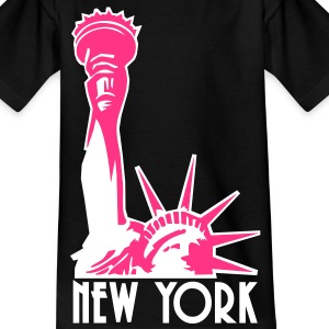 Liberty Enlightening the World, New York, NY, Freiheitsstatue, Statue of Liberty, www.eushirt.com, FR - T-shirt Ado