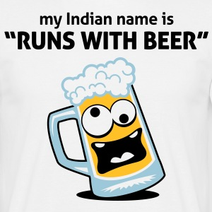 Runs With Beer 3 (3c)++ T-Shirts - Men's T-Shirt