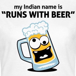 Runs With Beer 3 (3c)++ T-Shirts - Women's T-Shirt