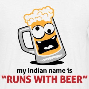 Runs With Beer 1 (dd)++ T-Shirts - Men's T-Shirt