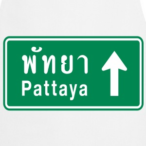 Pattaya, Thailand / Highway Road Traffic Sign - Cooking Apron