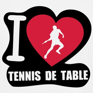 i love tennis de table Tee shirts - T-shirt Homme