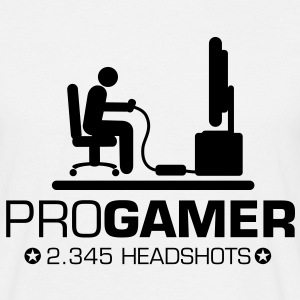 Pro Gamer, Headshots - Männer T-Shirt