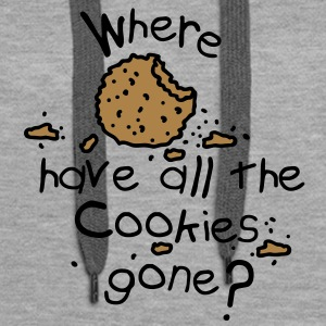 Where have all the cookies gone? Bluzy - Bluza damska Premium z kapturem
